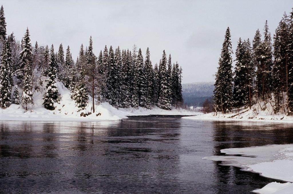 Исток реки Оланга из озера Паанаярви