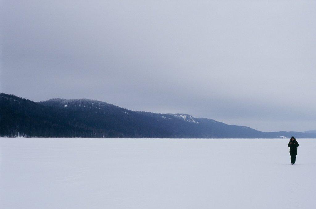 На снежной глади озера Паанаярви