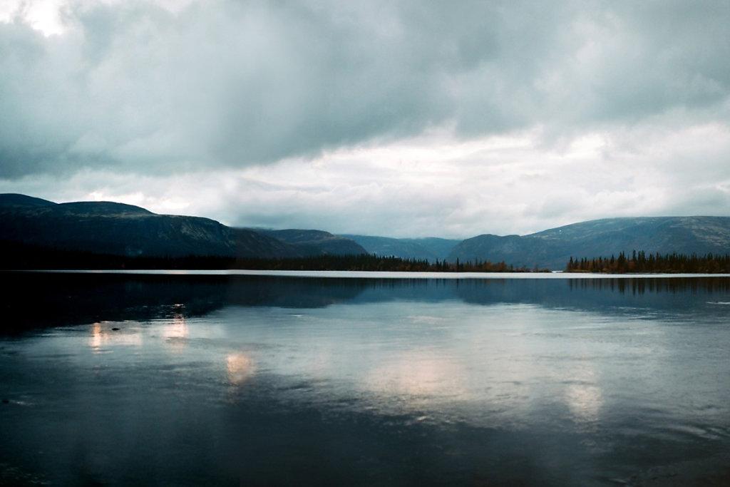 Закат над Сейдозером. Вид с истока ручья Сейдъяврйок