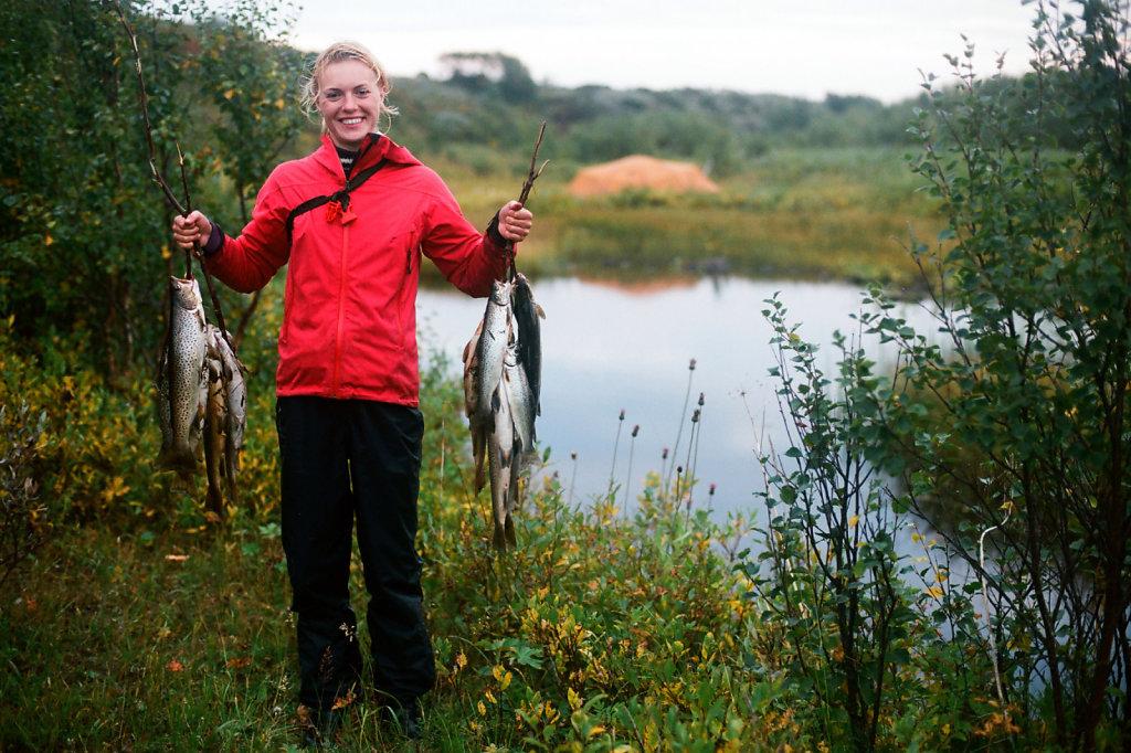 Улов на реке Малая Кумжевая